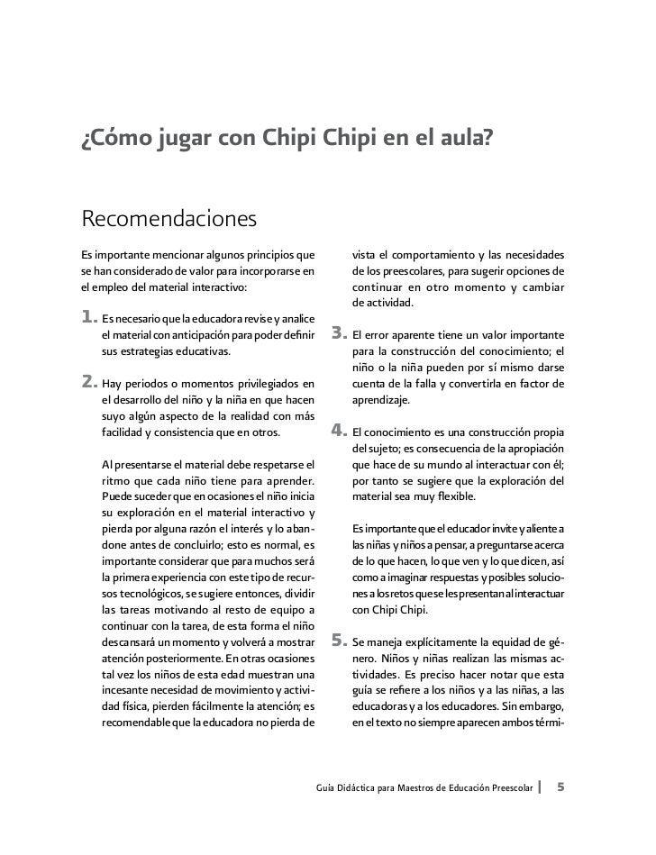 ¿Cómo jugar con Chipi Chipi en el aula?RecomendacionesEs importante mencionar algunos principios que                vista ...