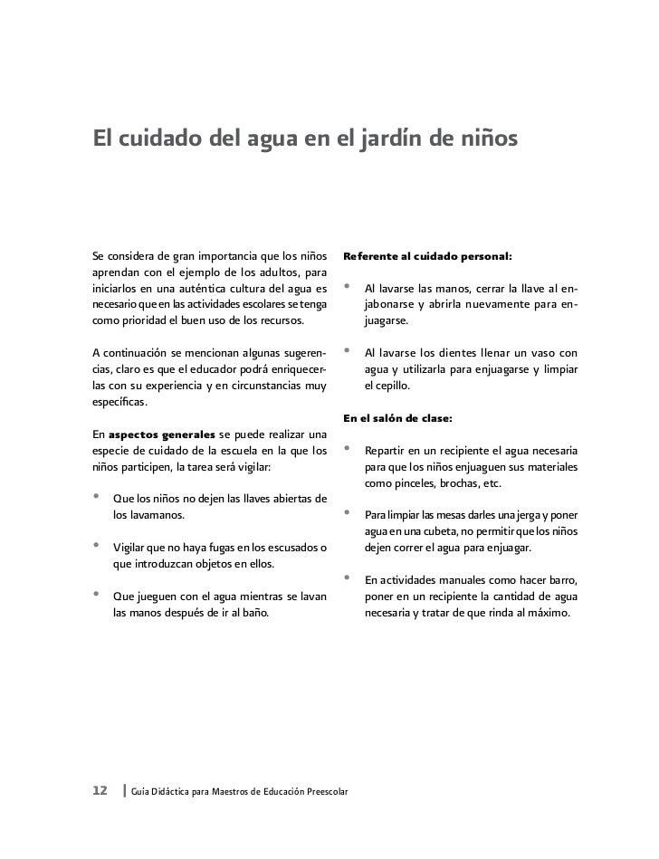 Guía Didáctica Sobre El Cuidado Del Agua Y Más