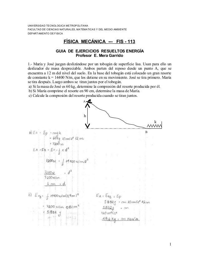 UNIVERSIDAD TECNOLOGICA METROPOLITANA FACULTAD DE CIENCIAS NATURALES, MATEMATICAS Y DEL MEDIO AMBIENTE DEPARTAMENTO DE FIS...
