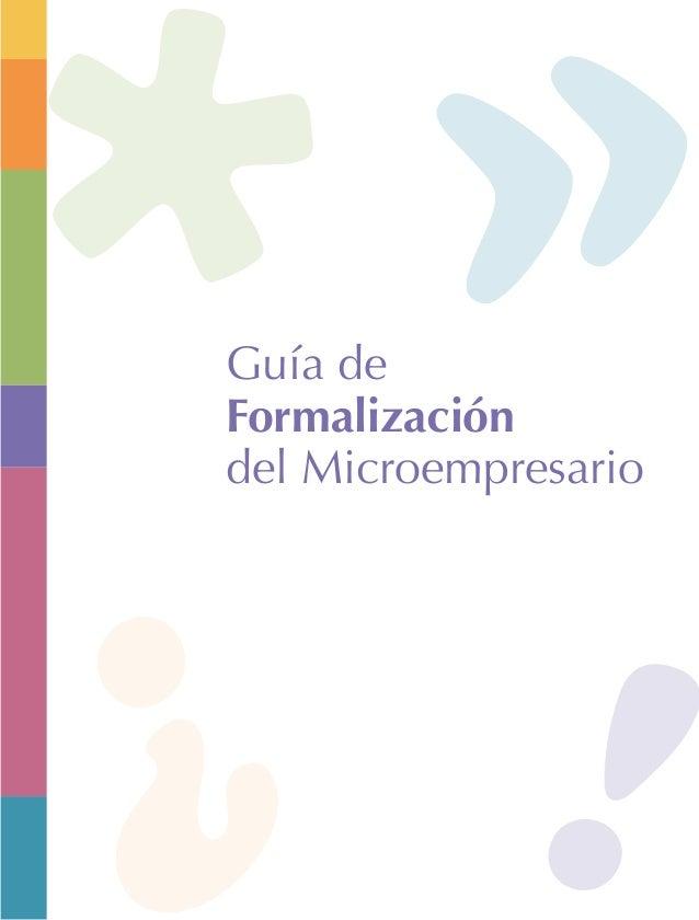 Guía de Formalización del Microempresario