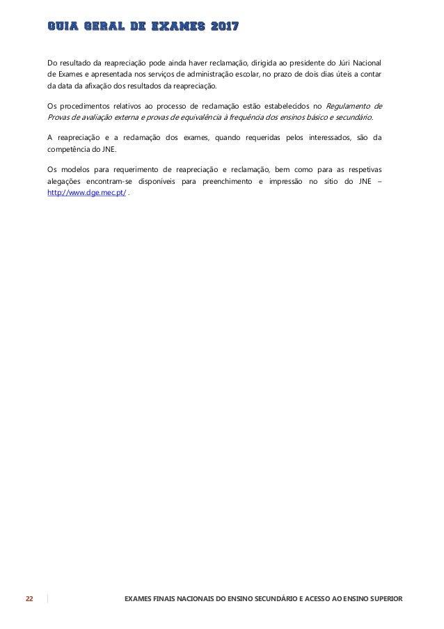 EXAMES FINAIS NACIONAIS DO ENSINO SECUNDÁRIO E ACESSO AO ENSINO SUPERIOR 23 CLASSIFICAÇÃO FINAL DE CURSO DO ENSINO SECUNDÁ...