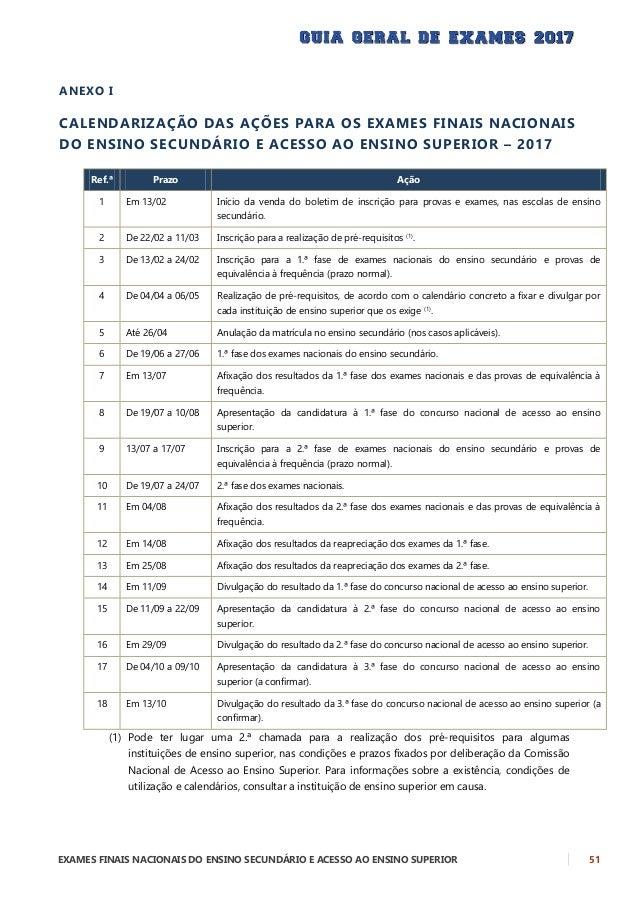 Guia Geral de Exames 2017