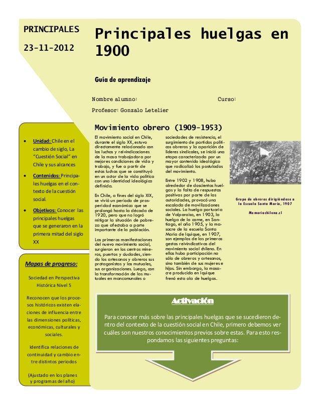 PRINCIPALES                                  Principales huelgas en23-11-2012                                  1900       ...