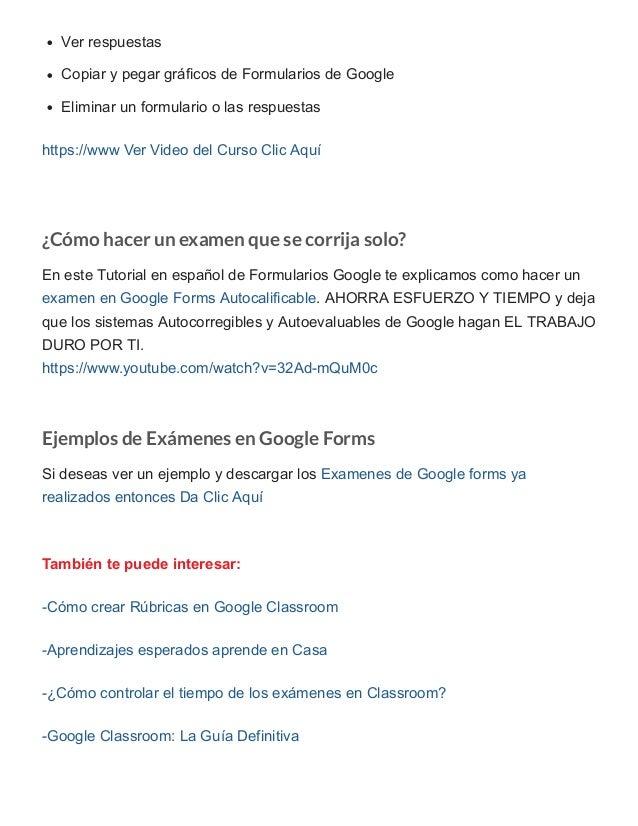 Ver respuestas Copiar y pegar gráficos de Formularios de Google Eliminar un formulario o las respuestas https://www Ver Vi...