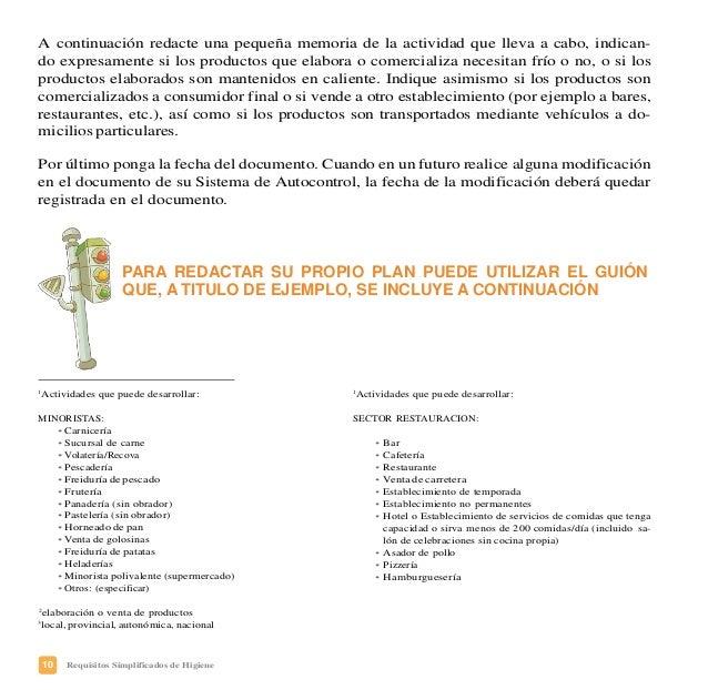 13Requisitos Simplificados de Higiene PLAN DE CONTROL DE TEMPERATURAS ¿Qué debe usted conocer? • Alimento refrigerado: Es ...