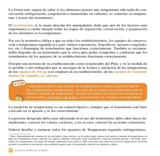 17Requisitos Simplificados de Higiene Dependiendo del volumen y del tipo de actividades que usted realice en su establecim...