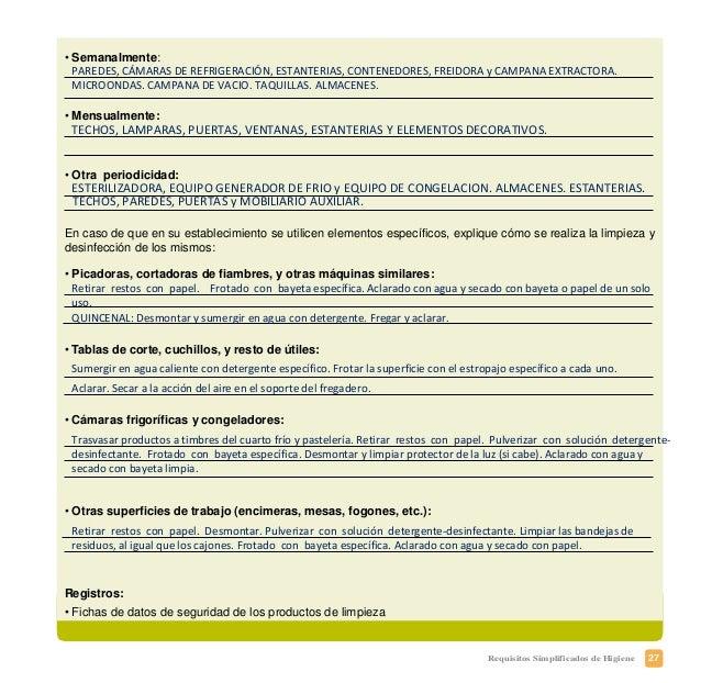 30 Requisitos Simplificados de Higiene