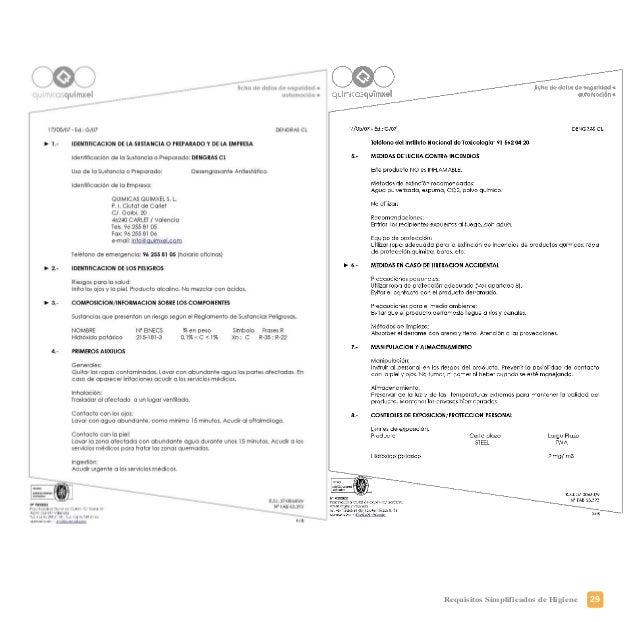 32 Requisitos Simplificados de Higiene
