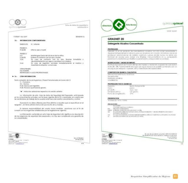 34 Requisitos Simplificados de Higiene PLAN DE FORMACIÓN DE MANIPULADORES ¿Qué debe usted conocer? • Manipulador de alimen...