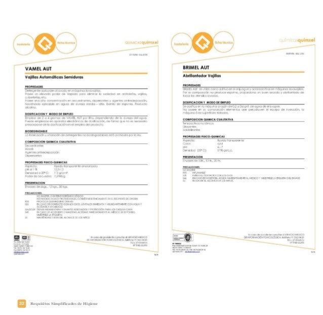 35Requisitos Simplificados de Higiene La formación del personal manipulador de alimentos es muy importante para garantizar...