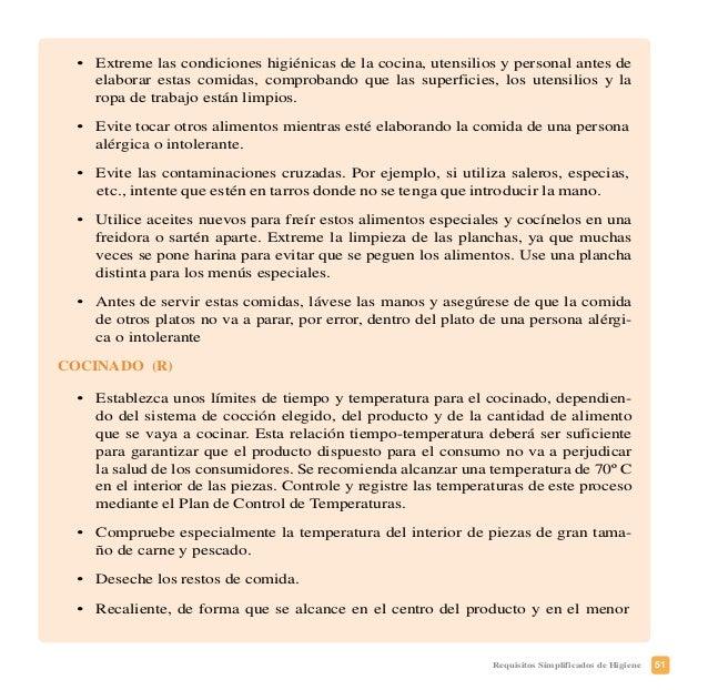54 Requisitos Simplificados de Higiene No obstante, si usted detecta cualquier incidencia relativa a una práctica higiénic...