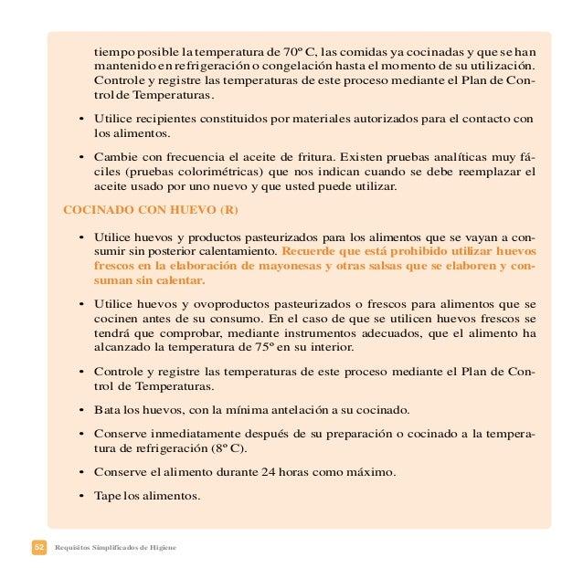 55Requisitos Simplificados de Higiene PLAN DE FORMACIÓN DE LOS MANIPULADORES DE ALIMENTOS Nombre, apellidos, y cargo en la...