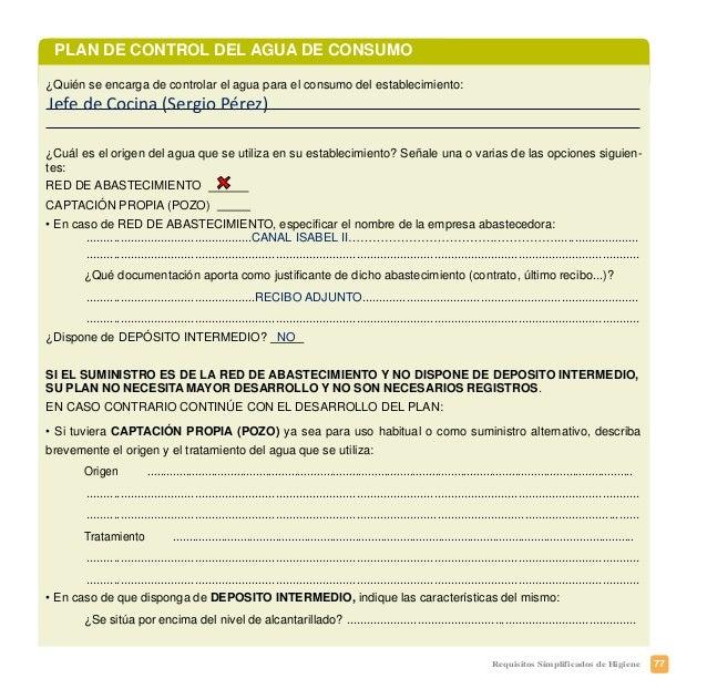 80 Requisitos Simplificados de Higiene Manuel Miguel González Martínez Gran Vía, 40 – 28013 MADRID COMERCIAL