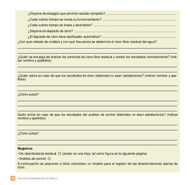 81Requisitos Simplificados de Higiene