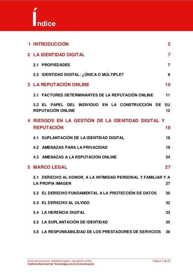 Guía para usuarios: identidad digital y reputación online (INTECO) Slide 3