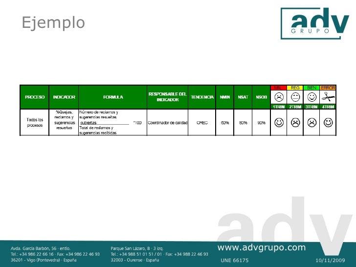 Ejemplo               www.advgrupo.com           UNE 66175          10/11/2009