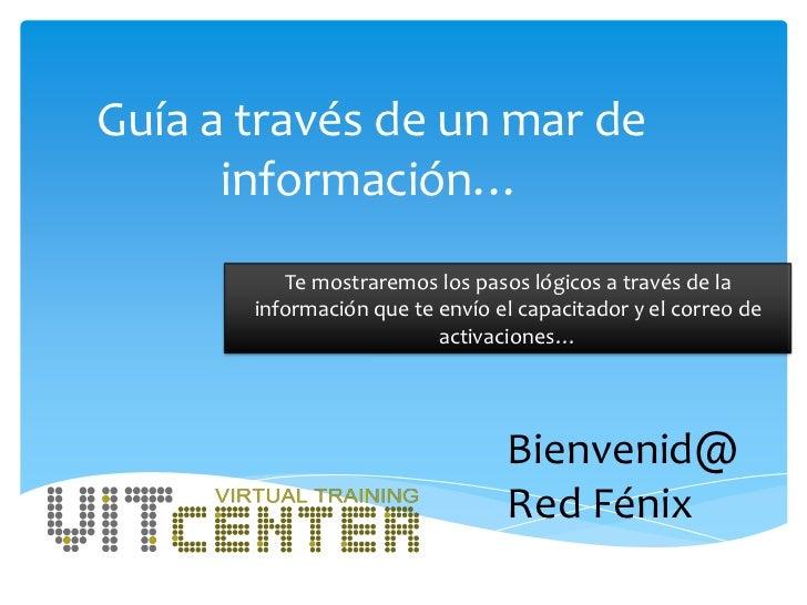 Guía a través de un mar de      información…          Te mostraremos los pasos lógicos a través de la       información qu...