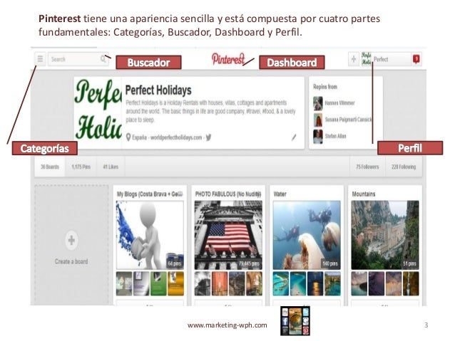 Pinterest - Guia Iniciación  Slide 3