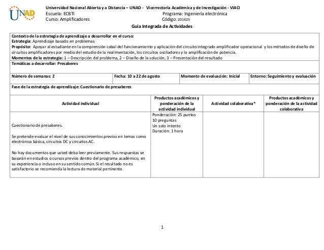 1 Universidad Nacional Abierta y a Distancia – UNAD - Vicerrectoría Académica y de Investigación - VIACI Escuela: ECBTI Pr...
