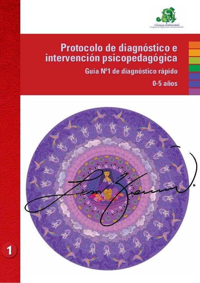 1Protocolo de diagnóstico eintervención psicopedagógica Guía N01 de diagnóstico rápido 0-5 años
