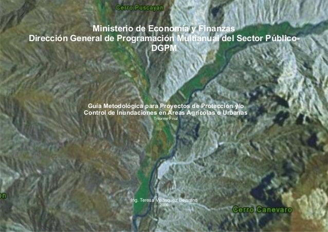 Ministerio de Economía y Finanzas Dirección General de Programación Multianual del Sector Público- DGPM Guía Metodológica ...