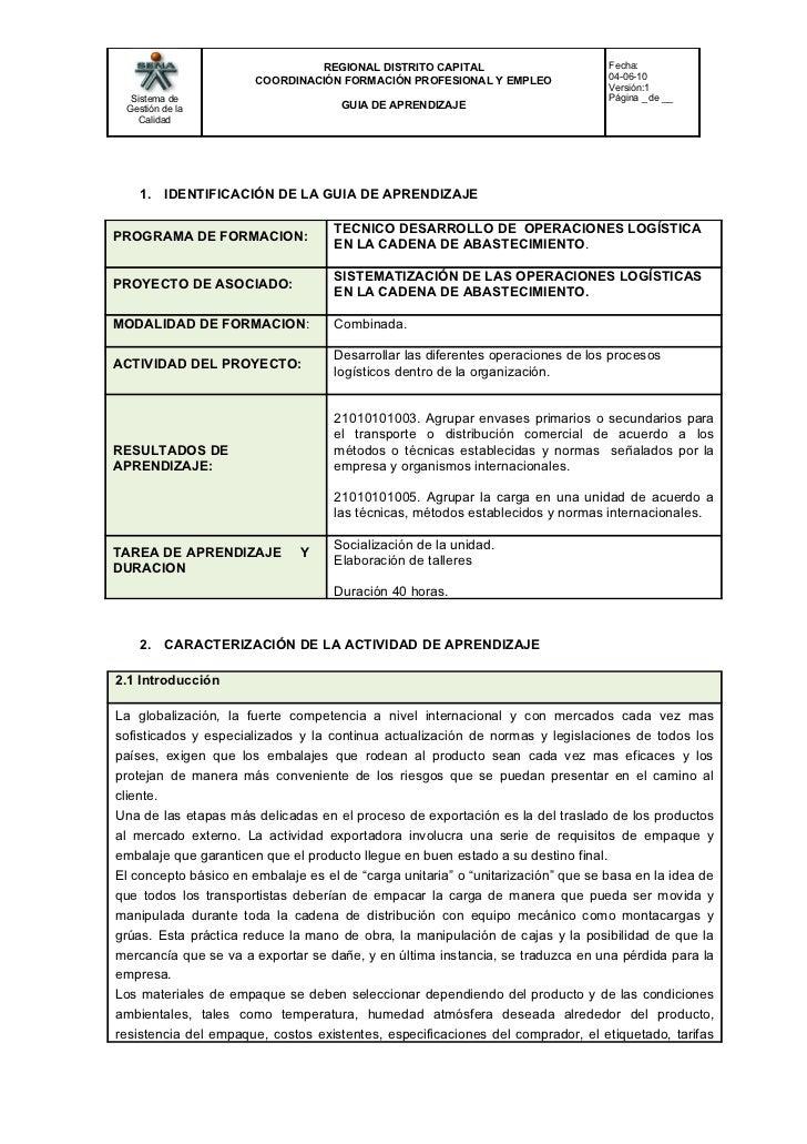 REGIONAL DISTRITO CAPITAL                         Fecha:                       COORDINACIÓN FORMACIÓN PROFESIONAL Y EMPLEO...