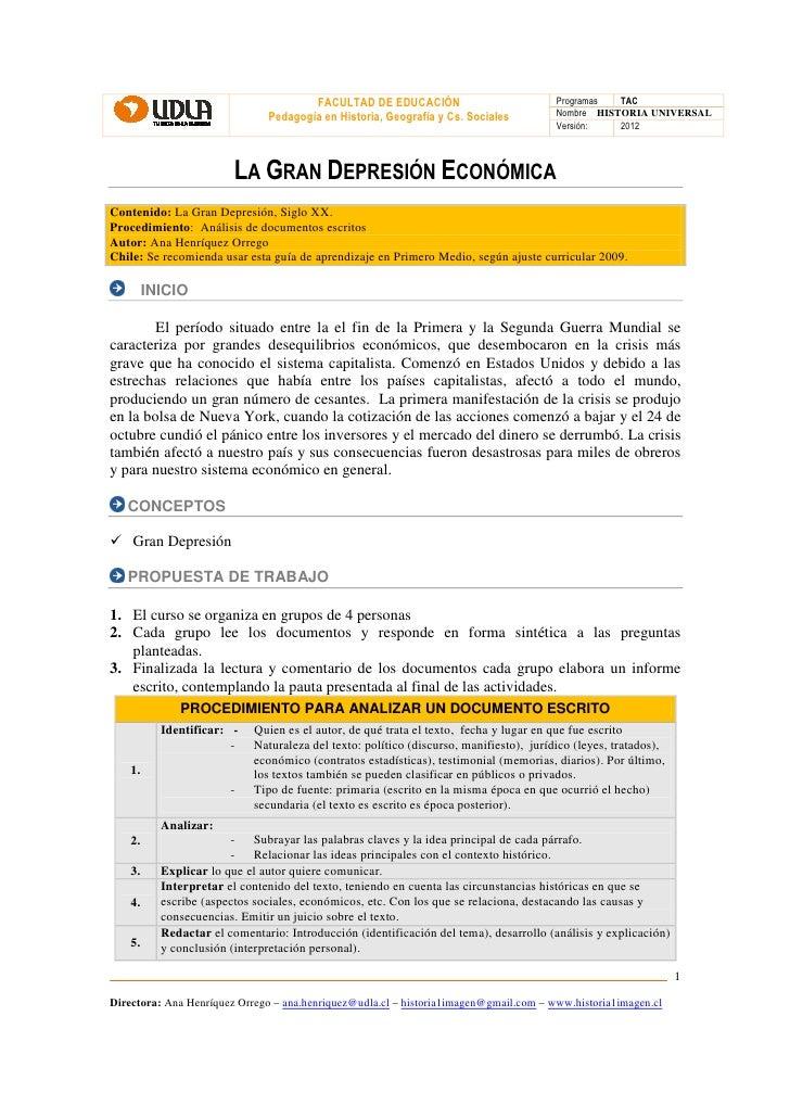 FACULTAD DE EDUCACIÓN                             Programas  TAC                               Pedagogía en Historia, Geog...