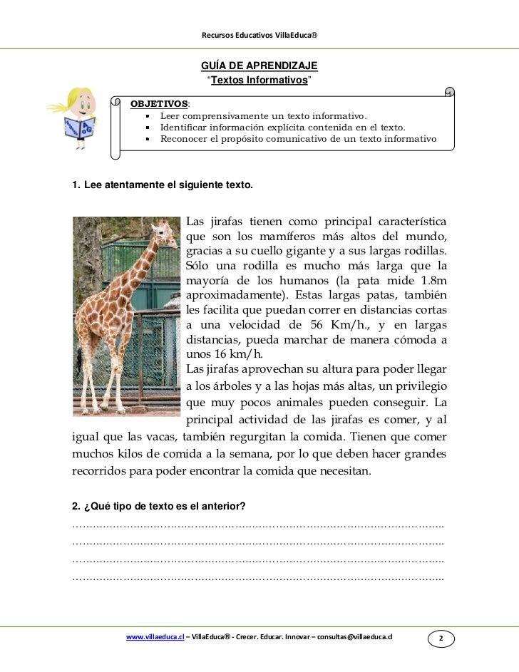 """Recursos Educativos VillaEduca®                                  GUÍA DE APRENDIZAJE                                   """"Te..."""