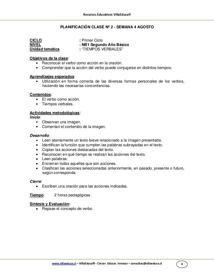 Recursos Educativos VillaEduca®                     PLANIFICACIÓN CLASE Nº 2 - SEMANA 4 AGOSTOCICLO                       ...