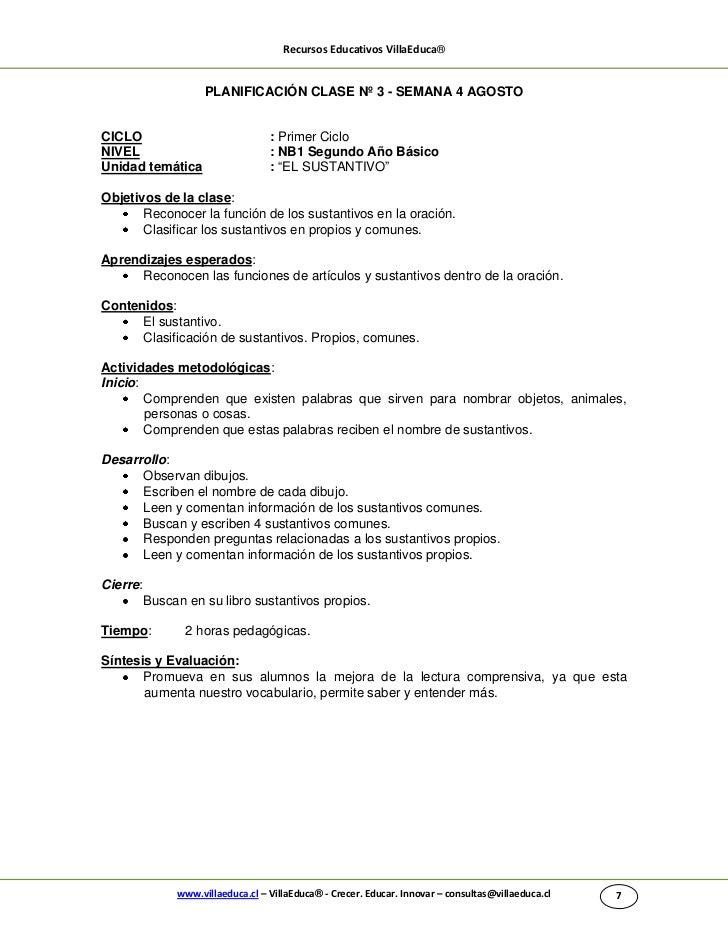 Recursos Educativos VillaEduca®                     PLANIFICACIÓN CLASE Nº 3 - SEMANA 4 AGOSTOCICLO                       ...