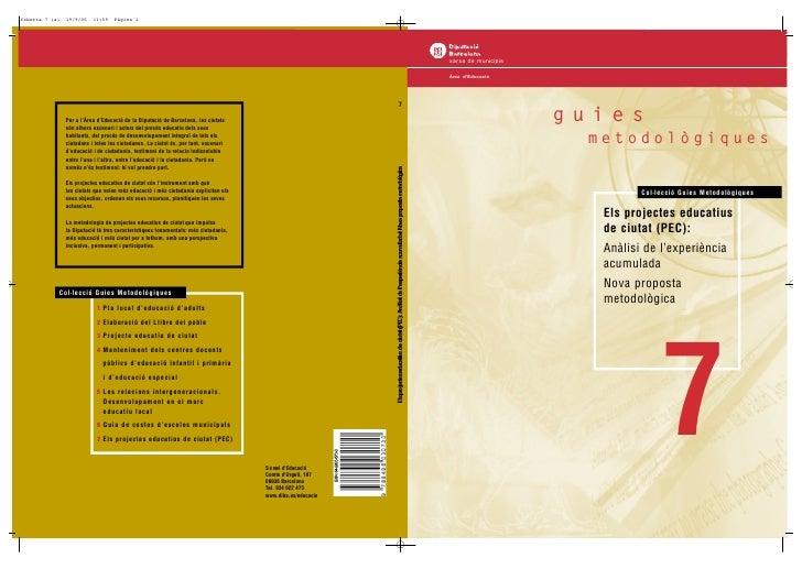 xarxa de municipis  Àrea d'Educació                          guies                       metodològiques                   ...