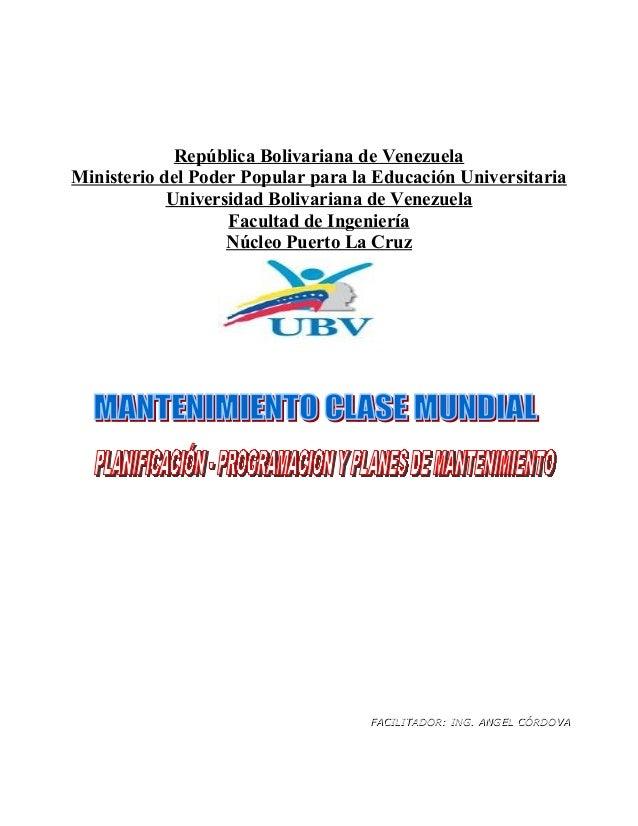 República Bolivariana de VenezuelaMinisterio del Poder Popular para la Educación Universitaria            Universidad Boli...