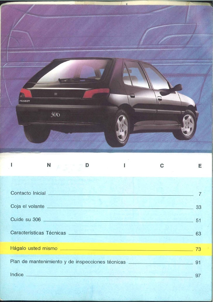 peugeot 306 manual rh slideshare net Peugeot 406 Coupe 2000 peugeot 306 owners manual
