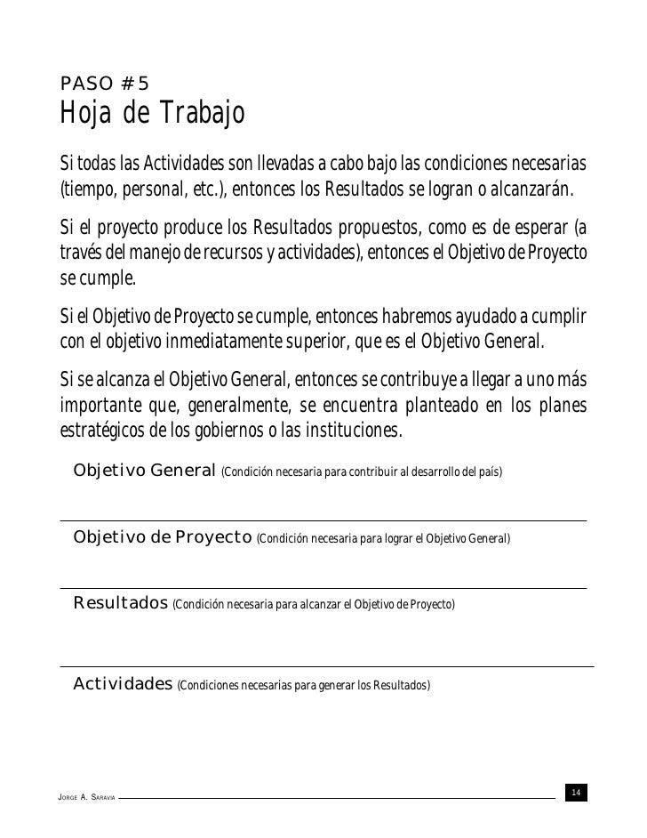 PASO # 5Hoja de TrabajoSi todas las Actividades son llevadas a cabo bajo las condiciones necesarias(tiempo, personal, etc....