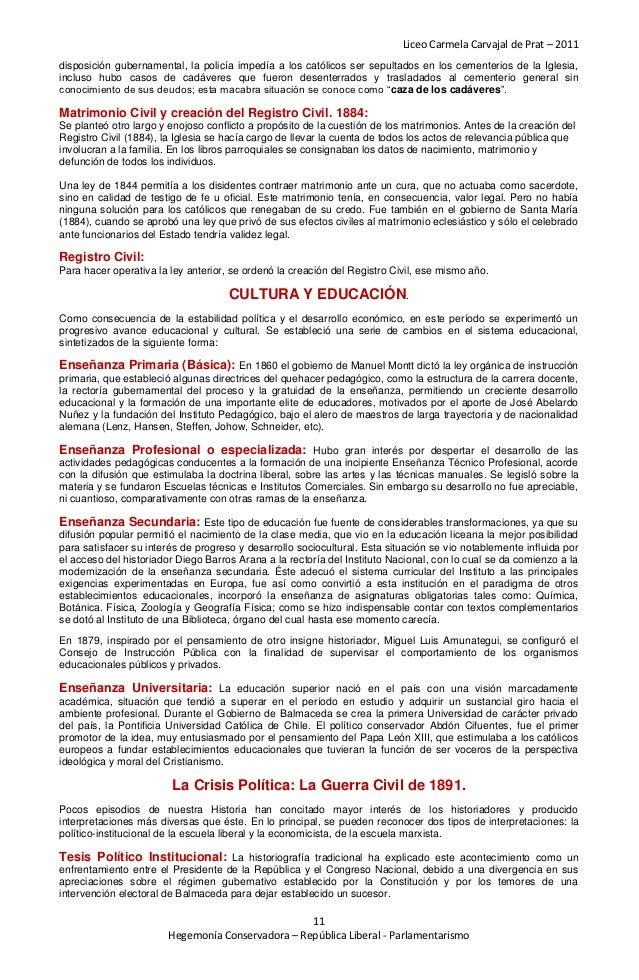 Liceo Carmela Carvajal de Prat – 2011disposición gubernamental, la policía impedía a los católicos ser sepultados en los c...