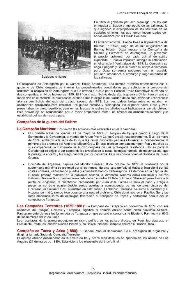 Liceo Carmela Carvajal de Prat – 2011                                                         En 1875 el gobierno peruano ...