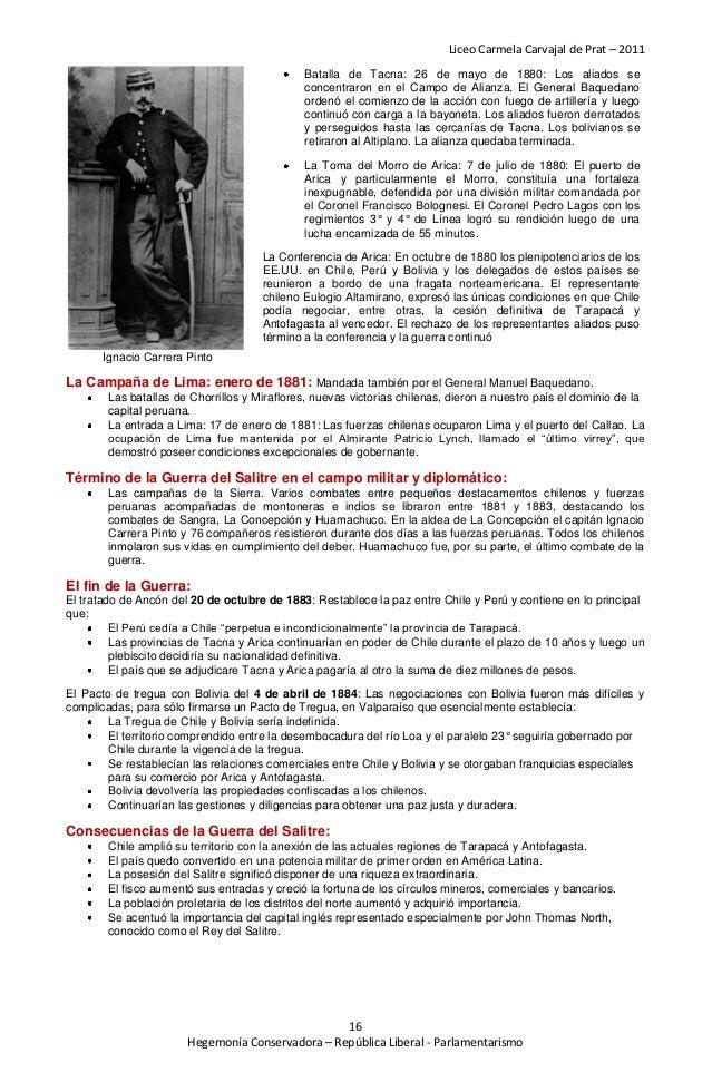 Liceo Carmela Carvajal de Prat – 2011                                             Batalla de Tacna: 26 de mayo de 1880: Lo...