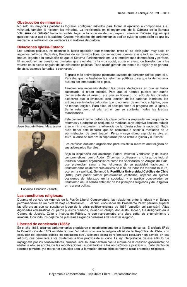 Liceo Carmela Carvajal de Prat – 2011Obstrucción de minorías:No sólo las mayorías partidarias lograron configurar métodos ...