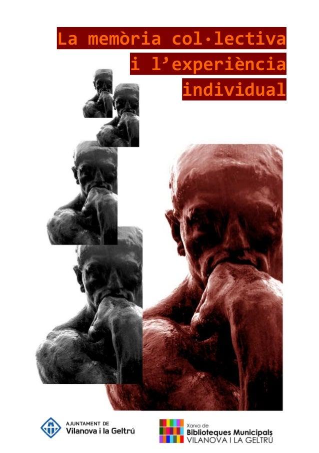 La memòria col·lectiva i l'experiència individual