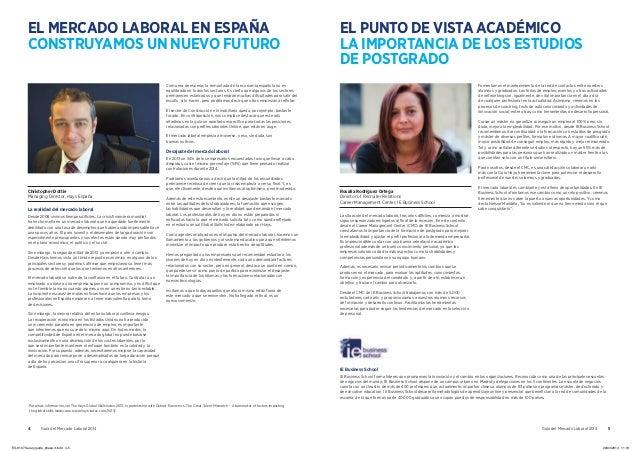 4 Guía del Mercado Laboral 2014 Guía del Mercado Laboral 2014 5 EL MERCADO LABORAL EN ESPAÑA CONSTRUYAMOS UN NUEVO FUTURO ...