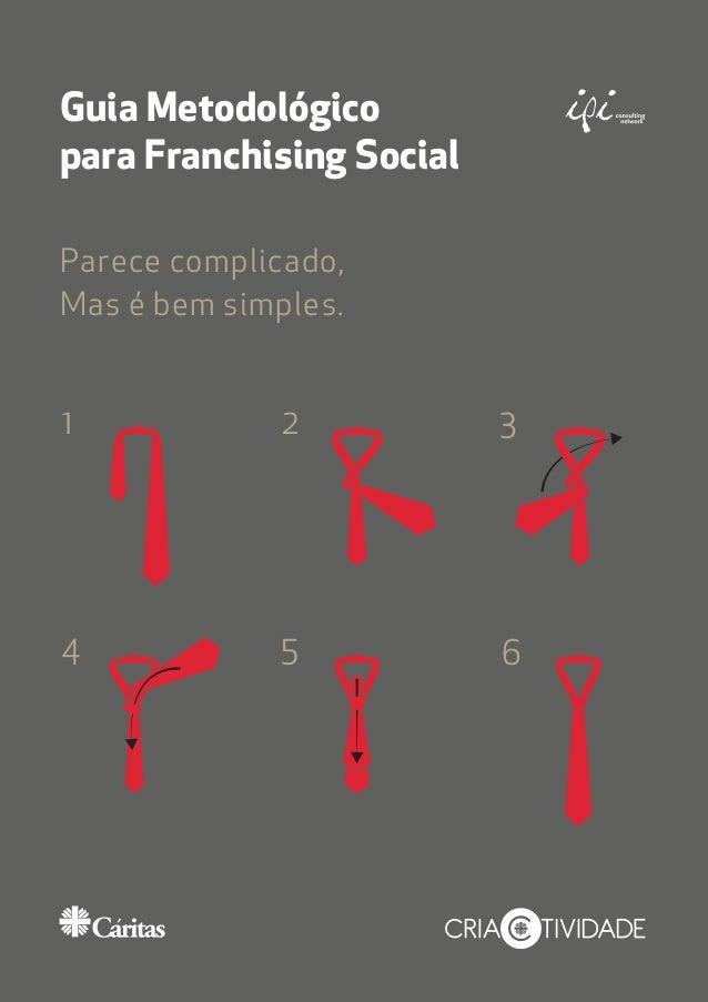 Guia Metodológico para Franchising Social Parece complicado, Mas é bem simples. 1 2 3 4 5 6