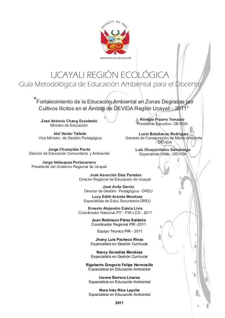 Guía Metodológica Primaria-2011 Slide 3