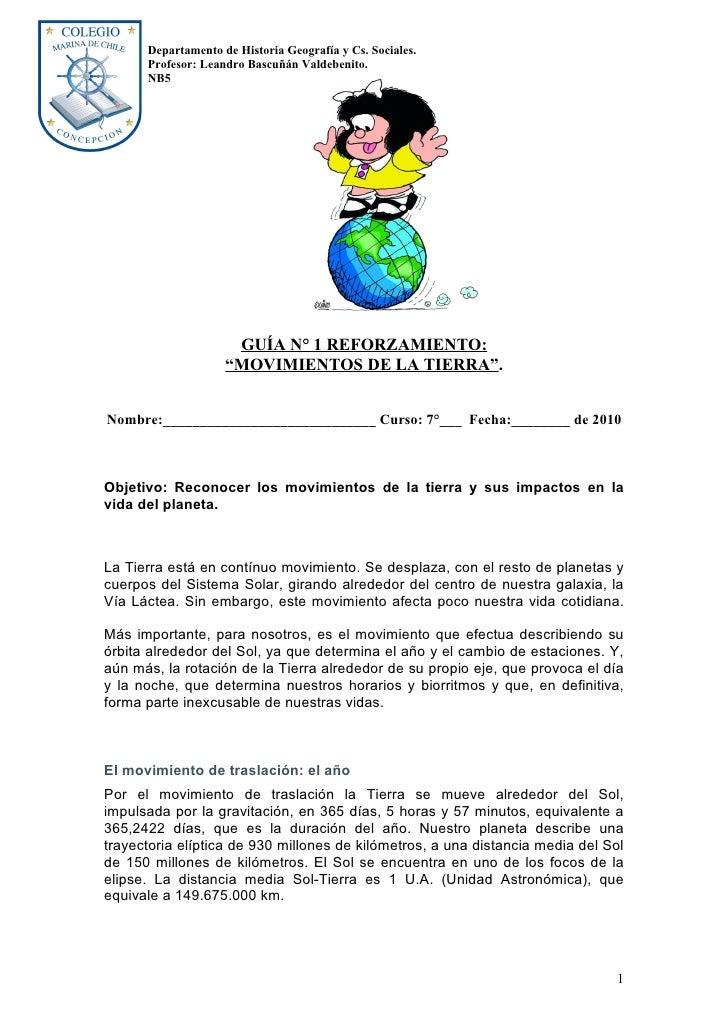 Departamento de Historia Geografía y Cs. Sociales.       Profesor: Leandro Bascuñán Valdebenito.       NB5                ...