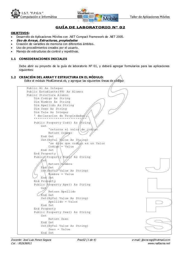 """I.S.T. """"F.P.G.V.""""       Computación e Informática                                                    Taller de Aplicacione..."""