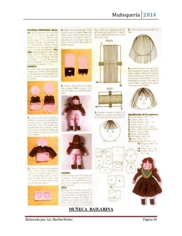 Muñequería 2014  Elaborado por: Lic. Maribel Reiter Página 54  MUÑECA BAILARINA