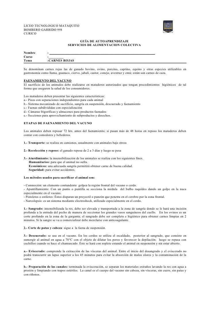 LICEO TECNOLOGICO MATAQUITO BOMBERO GARRIDO 998 CURICO                                         GUÍA DE AUTOAPRENDIZAJE    ...