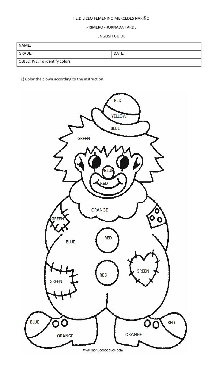 Color the clown