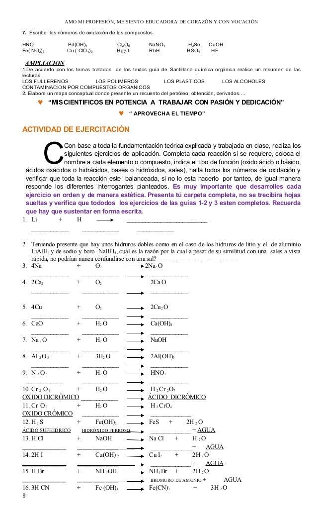 Guia no 1 quimica ecuaciones y balanceo 2013