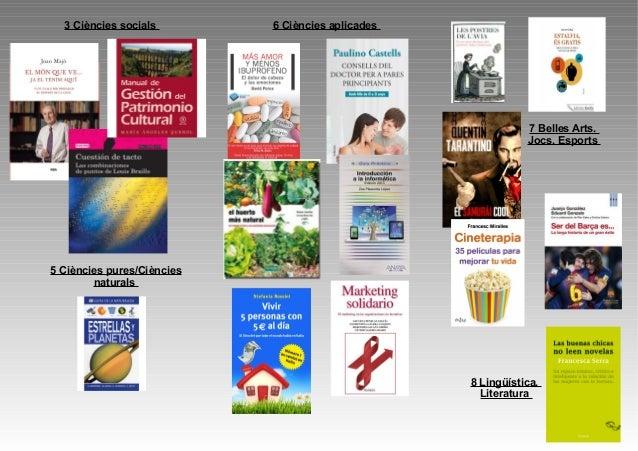3 Ciències socials  6 Ciències aplicades  7 Belles Arts. Jocs. Esports  5 Ciències pures/Ciències naturals  8 Lingüística....