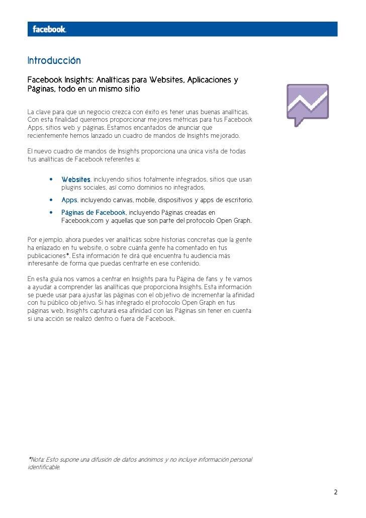 Introducción                                   Websites,Facebook Insights: Analíticas para Websites, Aplicaciones yPáginas...